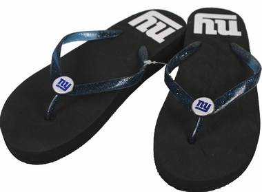 New York Giants Wedge Flip Flops