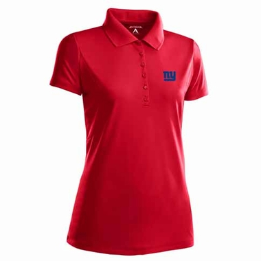 New York Giants Womens Pique Xtra Lite Polo Shirt (Color: Red)