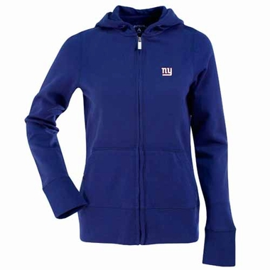 New York Giants Womens Zip Front Hoody Sweatshirt (Color: Royal)