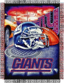 New York Giants Woven Tapestry Throw Blanket