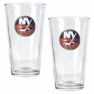 New York Islanders 2 Piece Pint Glass Set
