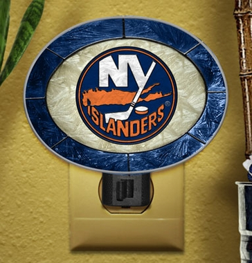New York Islanders Art Glass Night Light