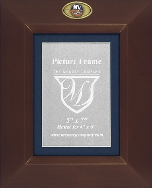 New York Islanders BROWN Portrait Picture Frame