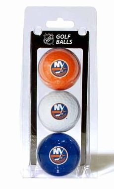New York Islanders Set of 3 Multicolor Golf Balls