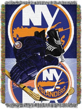 New York Islanders Woven Tapestry Blanket