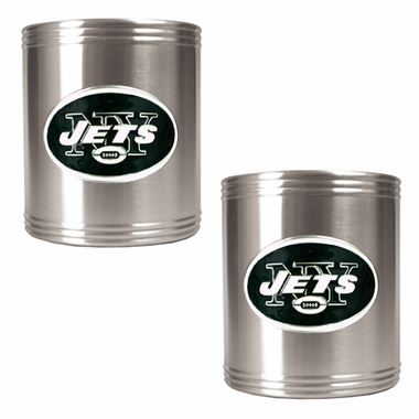 New York Jets 2 Can Holder Set