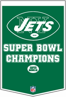 "New York Jets 24""x36"" Dynasty Wool Banner"