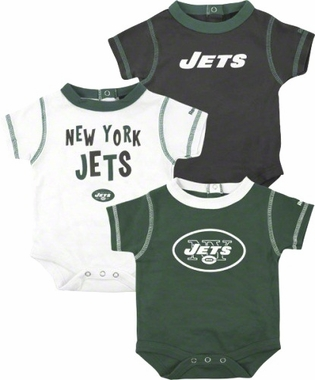 New York Jets 3 Pack Creeper Set