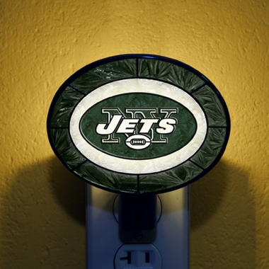 New York Jets Art Glass Night Light