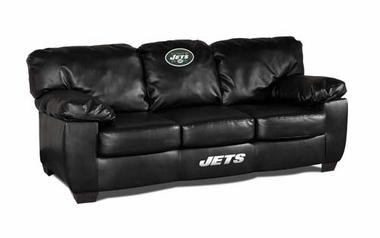 New York Jets Leather Classic Sofa