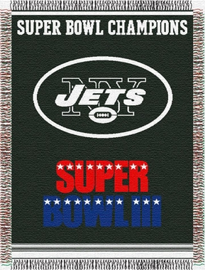 New York Jets Commerative Jacquard Woven Blanket