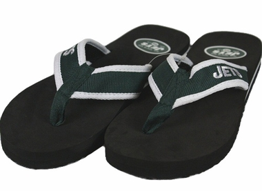 New York Jets Contoured Flip Flop Sandals