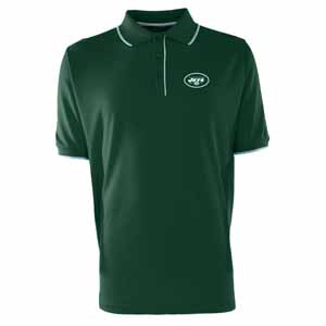 New York Jets Mens Elite Polo Shirt (Color: Green) - Large