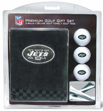 New York Jets Embroidered Towel Golf Gift Set