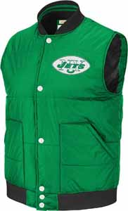 New York Jets Free Agent Throwback Snap Vest Jacket - XX-Large