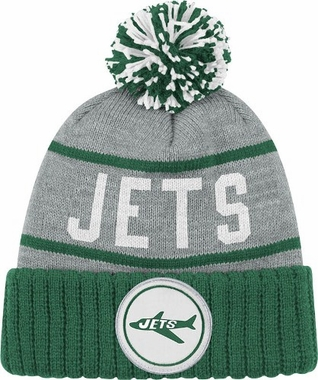 New York Jets High 5 Vintage Cuffed Pom Hat