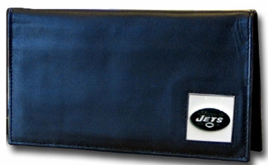 New York Jets Leather Checkbook Cover (F)