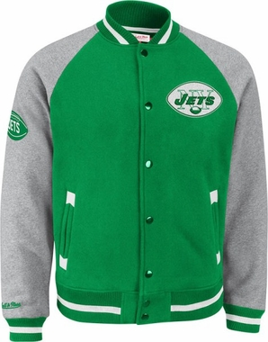 "New York Jets Mitchell & Ness ""Competitor"" Vintage Premium Jacket"