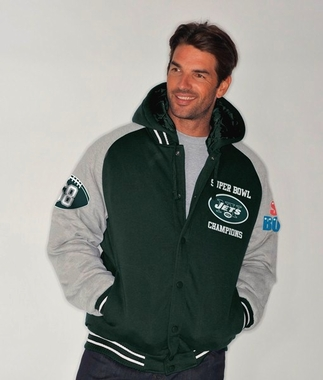 New York Jets NFL Defender Super Bowl Commemorative Detachable Hooded Jacket