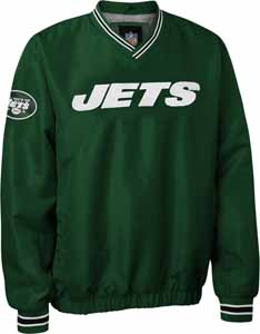 New York Jets NFL Pre-Season Wordmark Pullover Green Jacket - Large