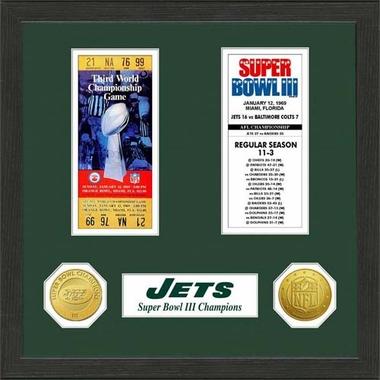 New York Jets New York Jets SB Championship Ticket Collection