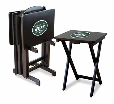 New York Jets Set of 4 Folding TV Trays