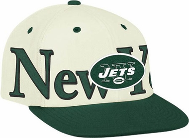 New York Jets Team Name and Logo Snapback Hat