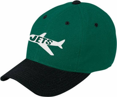 New York Jets Throwback Logo Adjustable Hat
