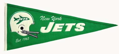 New York Jets Throwback Wool Pennant
