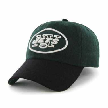 New York Jets Two Tone Brooksby Melton Wool Adjustable Hat