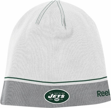 New York Jets Two Tone Cuffless Knit Hat