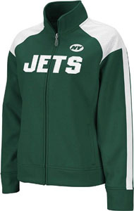 New York Jets Women's Reebok Bonded Full Zip Track Jacket - Large