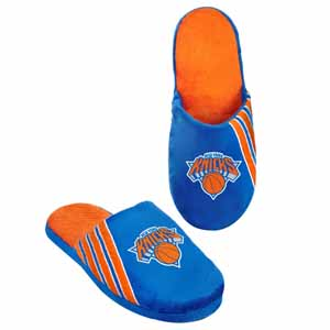 New York Knicks 2012 Team Stripe Logo Slippers - Large