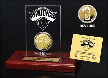New York Knicks New York Knicks 24KT Gold Coin Etched Acrylic
