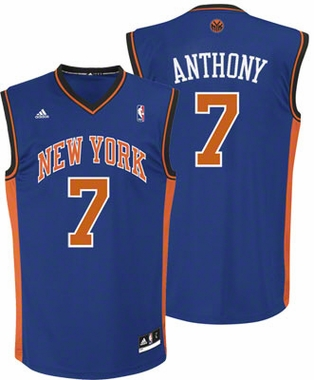 New York Knicks Carmello Anthony YOUTH Swingman Jersey