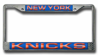 New York Knicks Laser Etched Chrome License Plate Frame