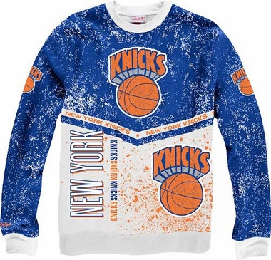 "New York Knicks Mitchell & Ness ""In The Stands"" Vintage Crew Sweatshirt"