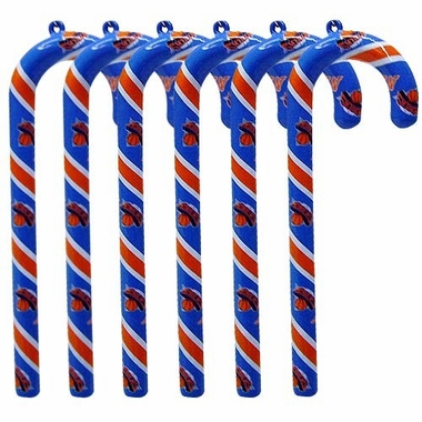 New York Knicks Set of 6 Candy Cane Ornaments