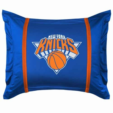 New York Knicks SIDELINES Jersey Material Pillow Sham