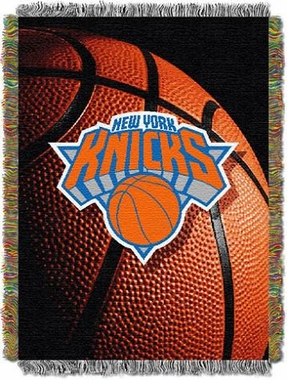 New York Knicks Woven Tapestry Blanket