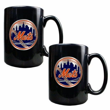 New York Mets 2 Piece Coffee Mug Set