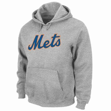 New York Mets .300 Hitter Hooded Sweatshirt - Grey