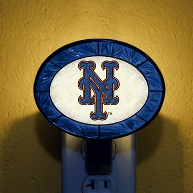 New York Mets Art Glass Night Light