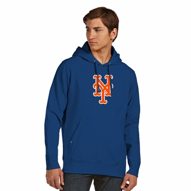 New York Mets Big Logo Mens Signature Hooded Sweatshirt (Color: Royal) - XX-Large