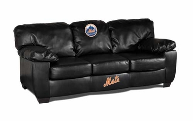 New York Mets Leather Classic Sofa