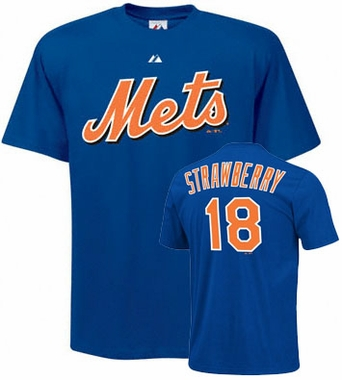 New York Mets Darryl Strawberry Name and Number T-Shirt