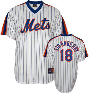 New York Mets Darryl Strawberry Replica Throwback Jersey - Small