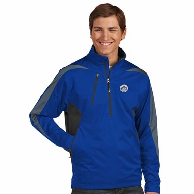 New York Mets Mens Discover 1/4 Zip Pullover (Color: Blue)