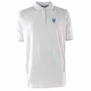 New York Mets Mens Elite Polo Shirt (Color: White) - Small