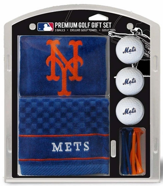 New York Mets Embroidered Towel Golf Gift Set